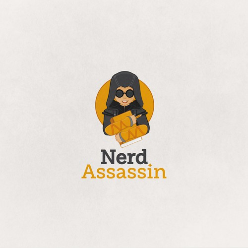 Nerd Assassin Logo design