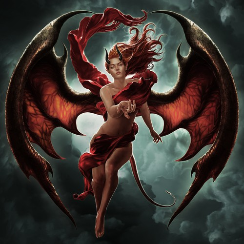 Art for 2018 Temptation of the Succubus silver coin