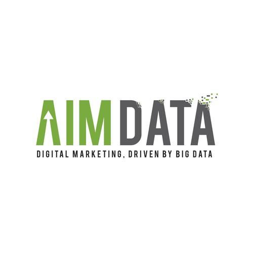 Aim Data Logo Design