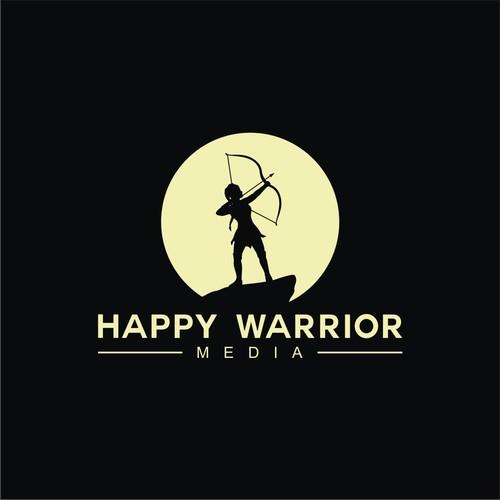 HAPPY WARRIOR MEDIA Logo Design