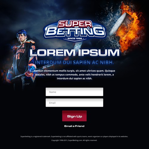Superbetting.com needs a new landing page