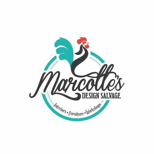 Marcotte's Designe Salvage Logo design