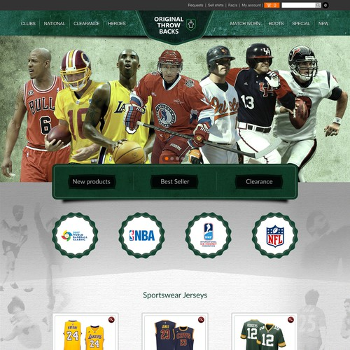 Exciting new vintage sportswear brand website
