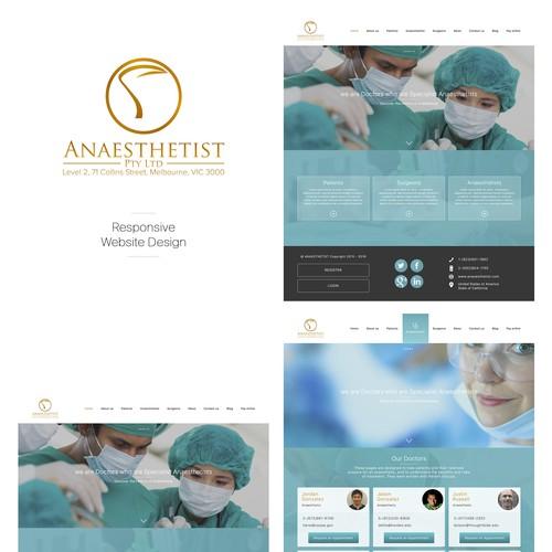 Website Design for Anaesthetist