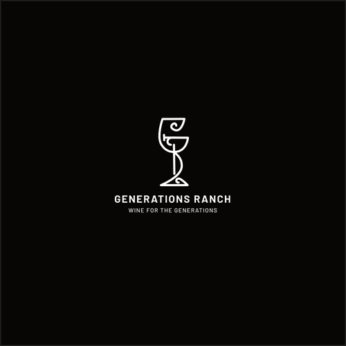 a logo for wine ranch