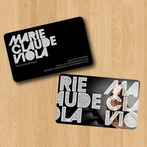 stationery for Marie-Claude Viola, photographer