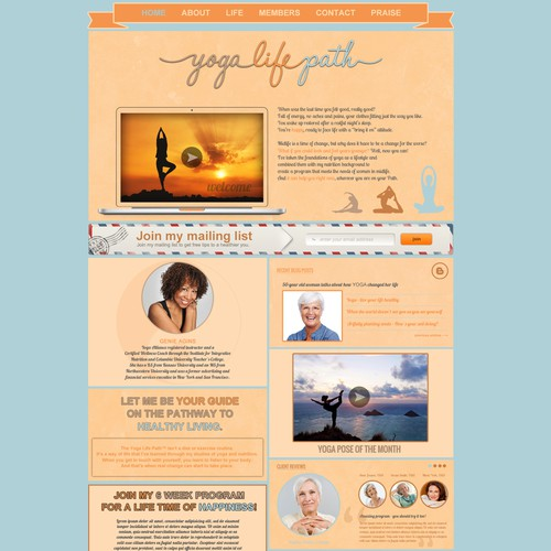 Homepage for Yoga Site