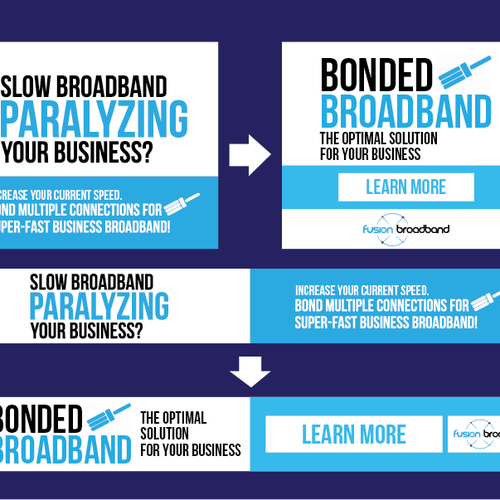 Winning Banner Ad for Fusion Broadband