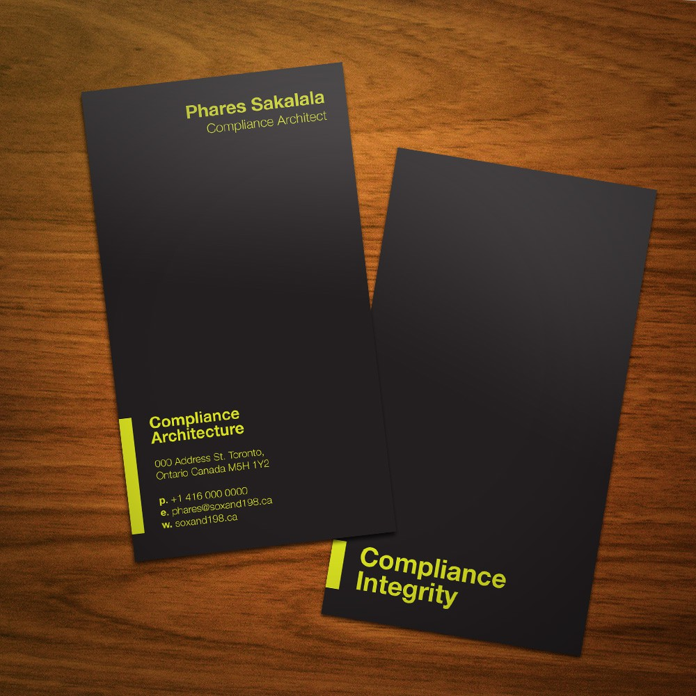 Compliance Architecture needs a new stationery
