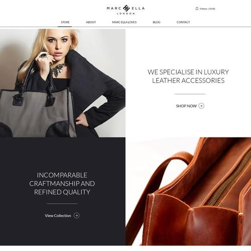 Marc Ella home page design