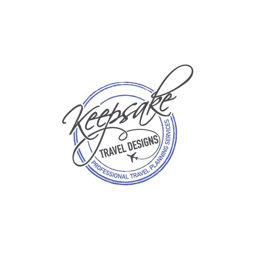 Logo for Keepsake Travel Designs, travel planning service