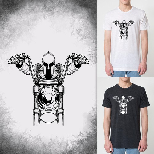 concept for classic motor rider