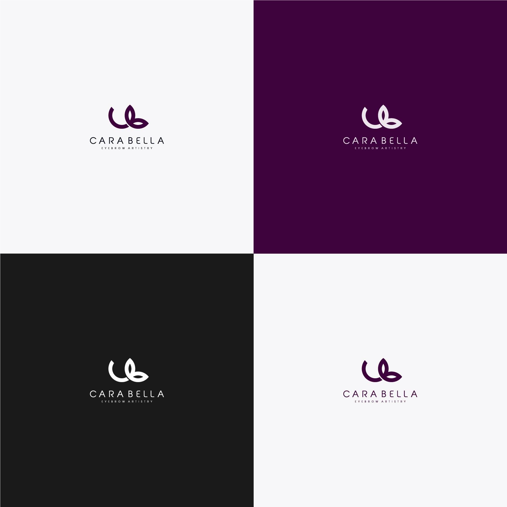 Create a modern, elegant logo for Cara Bella Brows