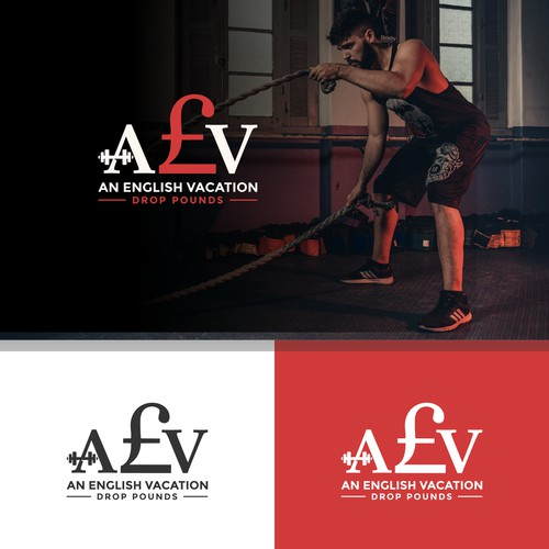 AEV Personal Training Fitness Logo concept design