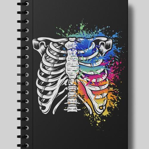Colorful ribcage