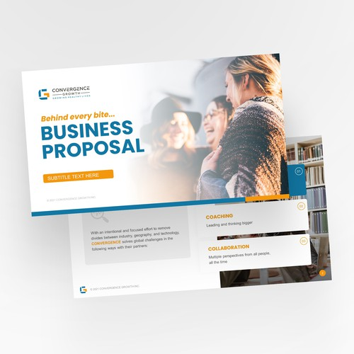 Convergence startup Powerpoint template