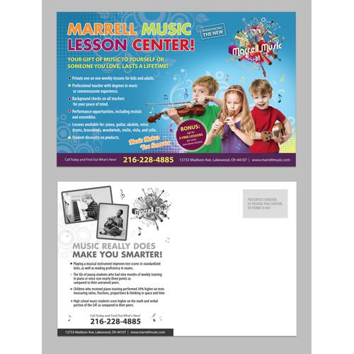 Flyer for music school
