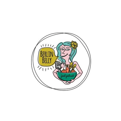 Logo for Berlin food community podcast