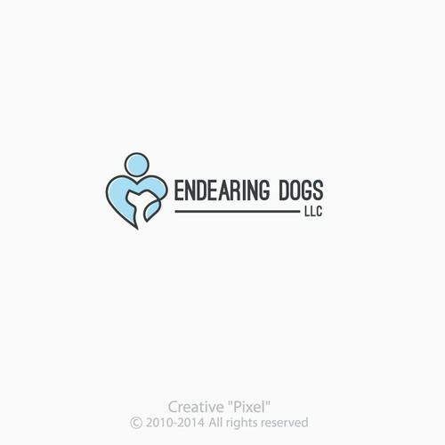 Create an endearing logo for a dog training/pet care company!