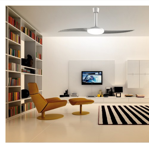 We are also looking to create a new ceiling fan. Should be 2 blades and slim ..