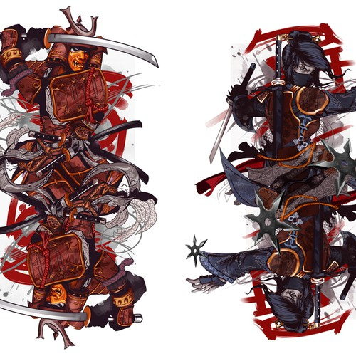 Ninja and Samurai Playing cards