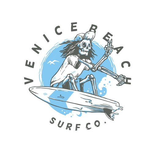 T shirt design for a surf company
