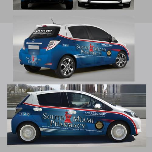 South Miami Pharmacy Car Wrap