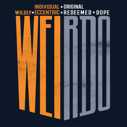 T Shirt design for W.E.I.R.D.O
