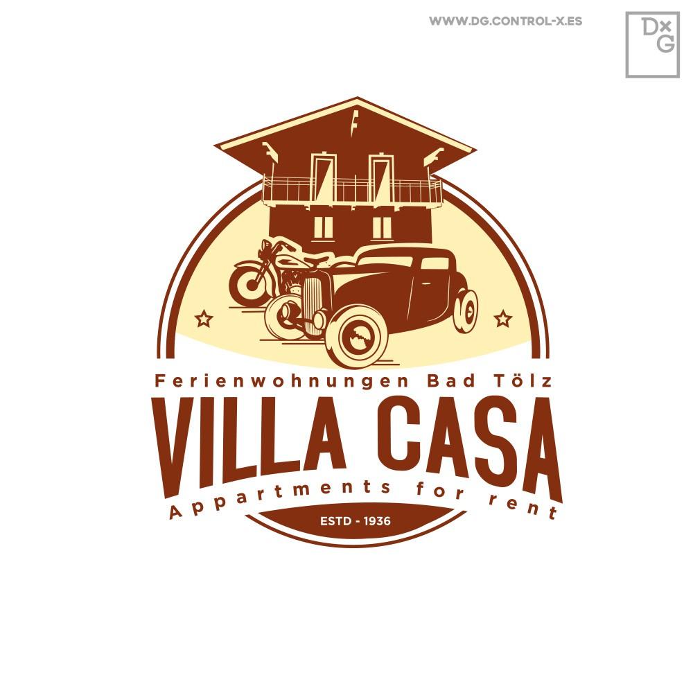 """Logo für """"Holiday home"""" für vintage V8 US Car Oldtimer fans prewar"""
