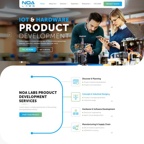 hardware and IoT product web design