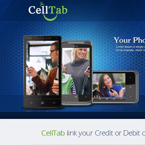 Create the next website design for CellTab