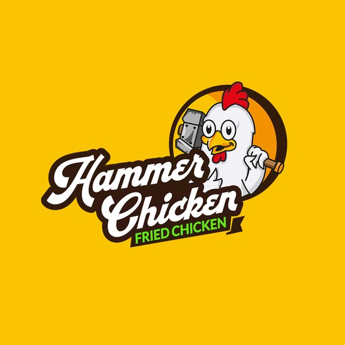 Fried chicken franchise logo concept