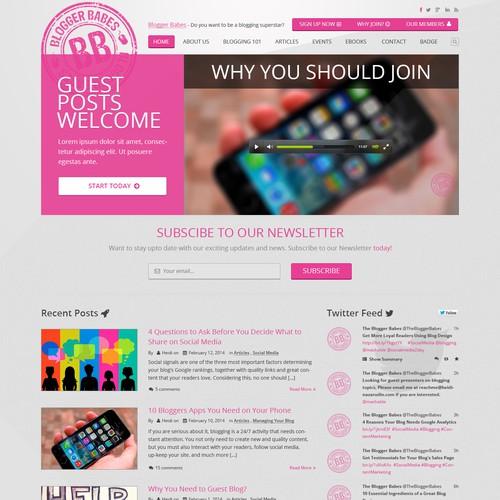 Elegant and Flat Web Design For Blogger Babes