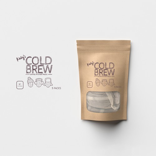 Fun and quirky design for cold brew coffee packs