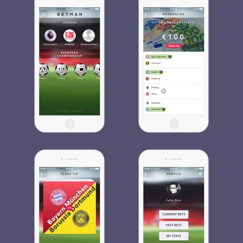 Tinder-like sports betting app
