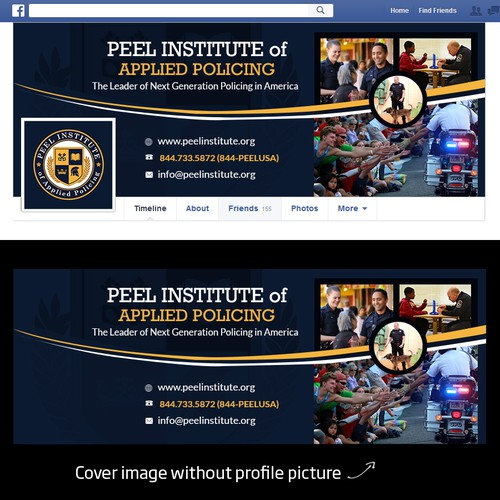 Create a Facebook Cover for Peel Institute of Applied Policing