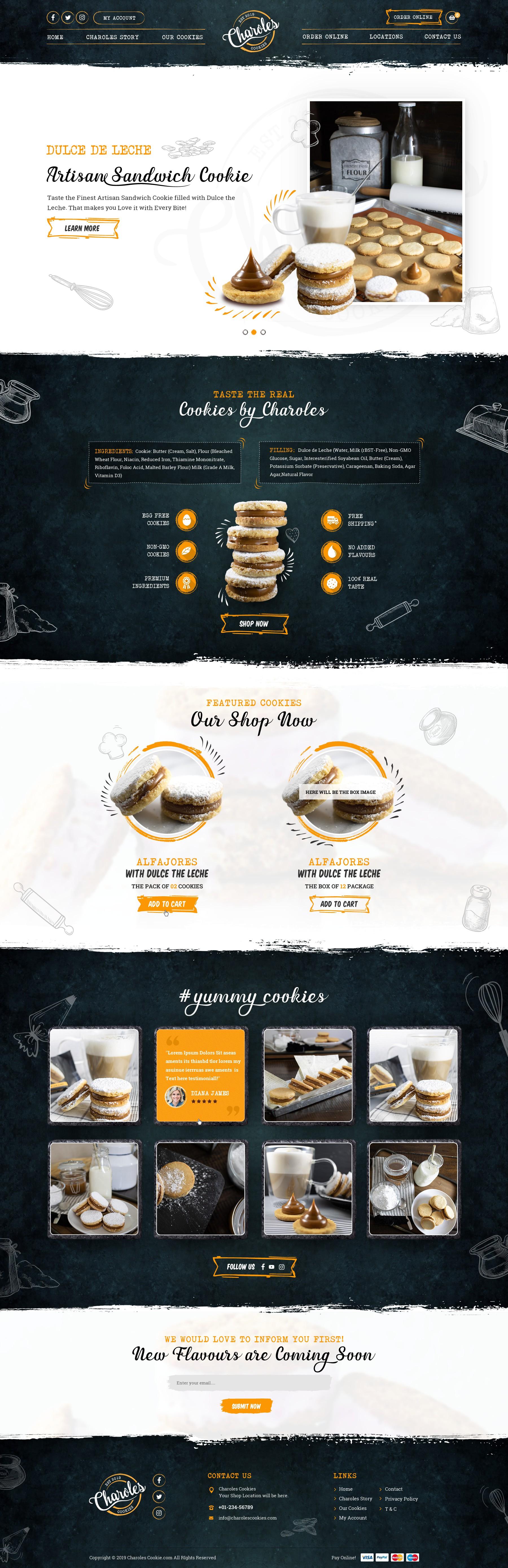 Creation of delicious cookies (Alfajores) website