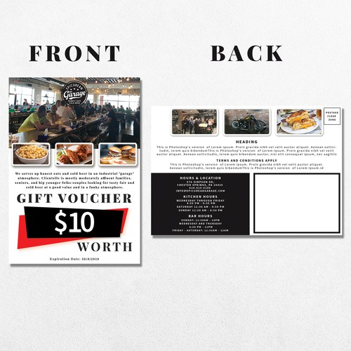 Post Card for Epicurean Garage