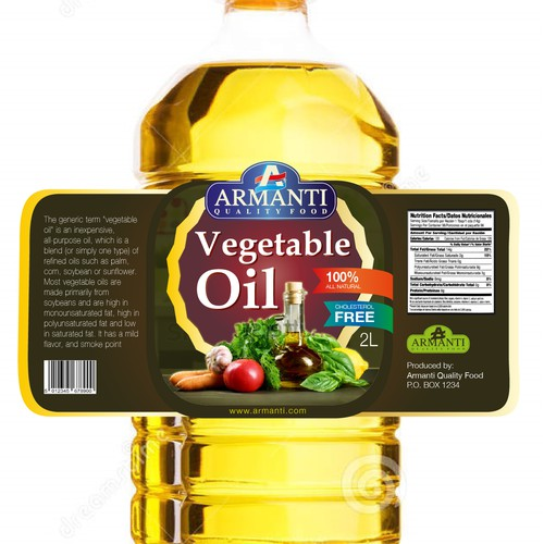 Label design concept for Armanti