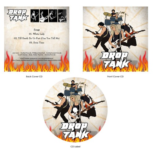 CD cover for Drop Tank Band