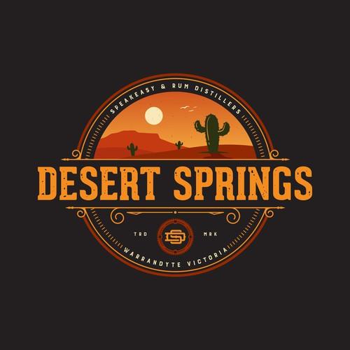 Desert springs Speakeasy bar, bootlegger and rum Distiller