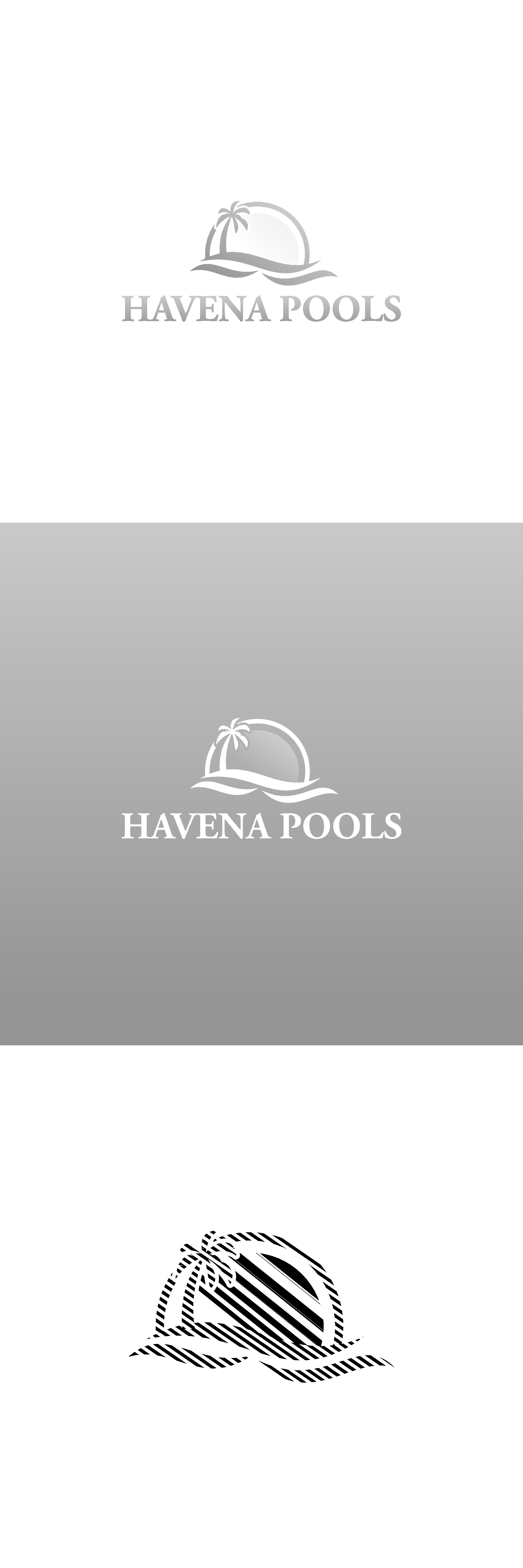 Pool company looking for a tropical  logo and business card