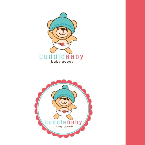 cute baby logo design