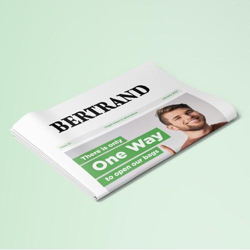 Newspaper Brochure for Bertrand
