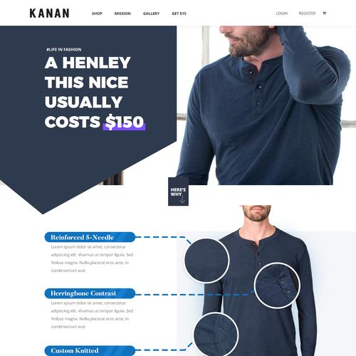 Kanan Landing page