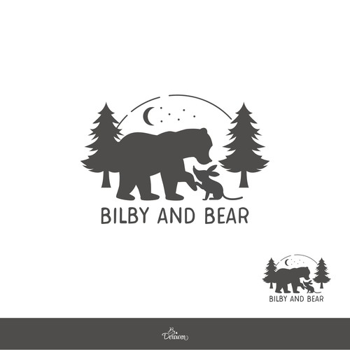 Cute rustic logo for unique products for kids