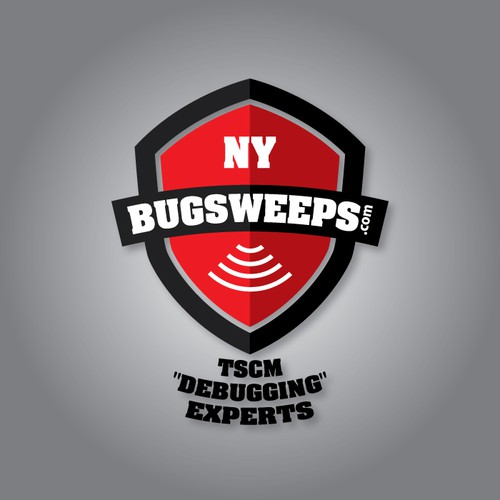 Unique modern text logo for NJ Bugsweeps.com (not insects)