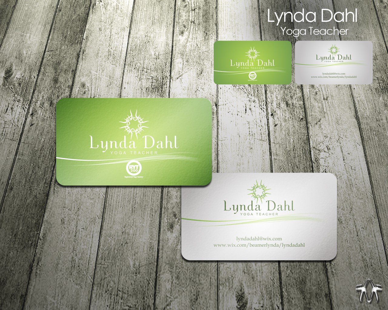Create the next stationery for Lynda Dahl