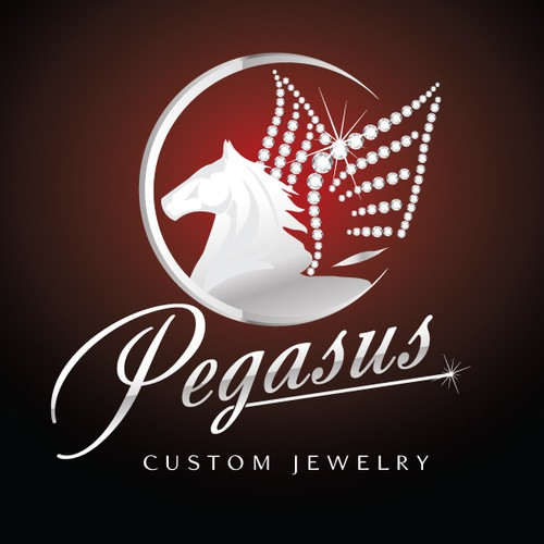 Diamond winged Pegasus for Custom Jewelry Design House
