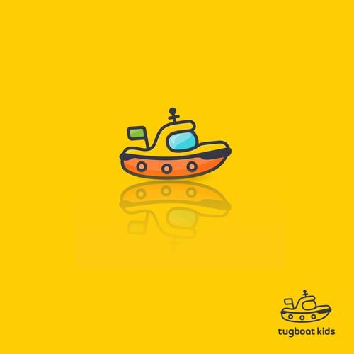 Cute tugboat